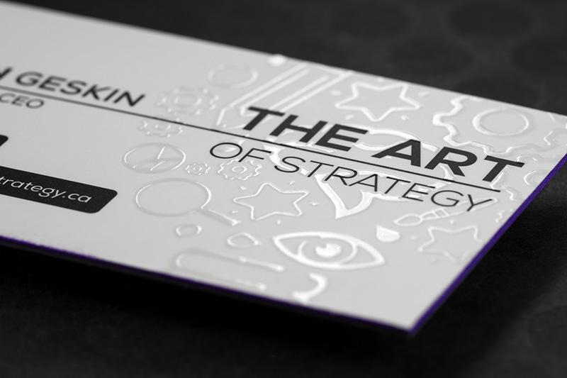 Mẫu card cao cấp với công nghệ UV định hình