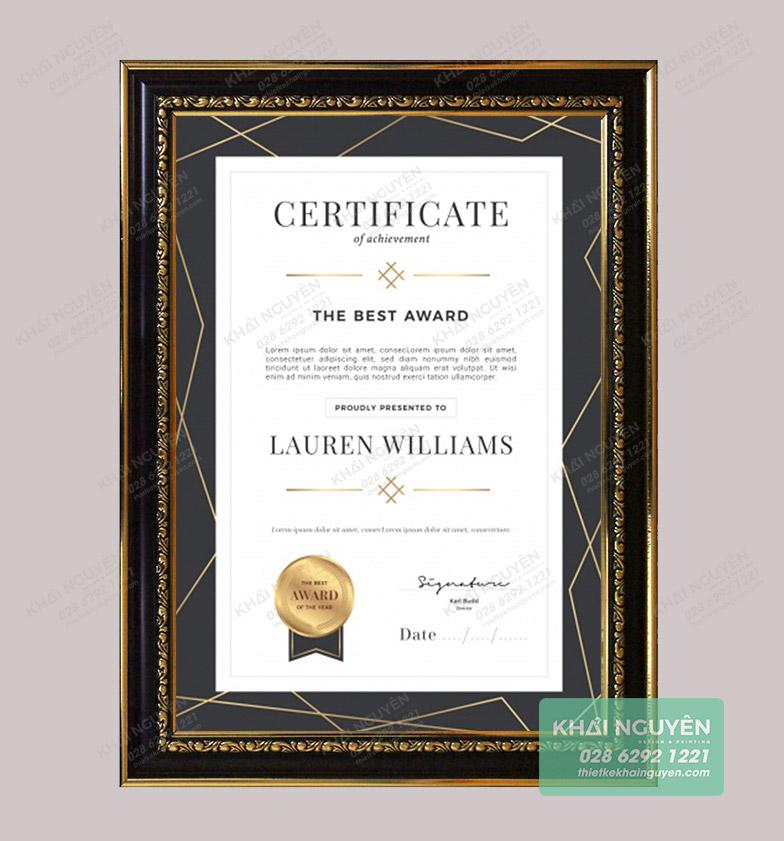 Certificate Template với thiết kế cổ điển
