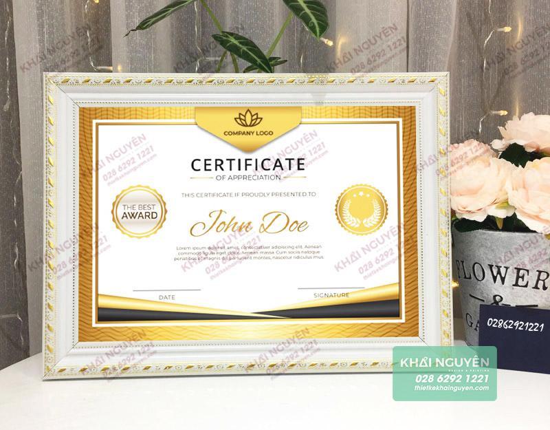Mẫu giấy khen thưởng LUXURY đẹp - Certificate template