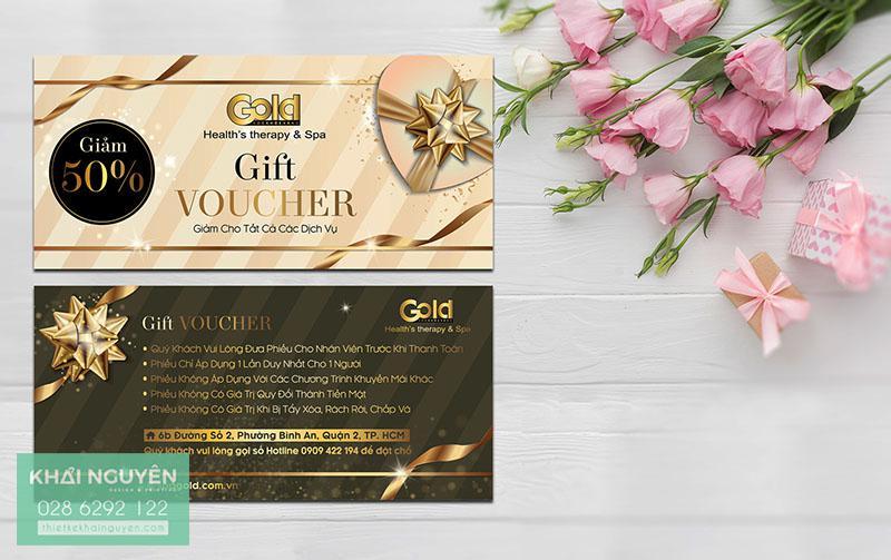 Mẫu gift voucher đẹp với thiết kế tinh tế - Healths Therepy Spa