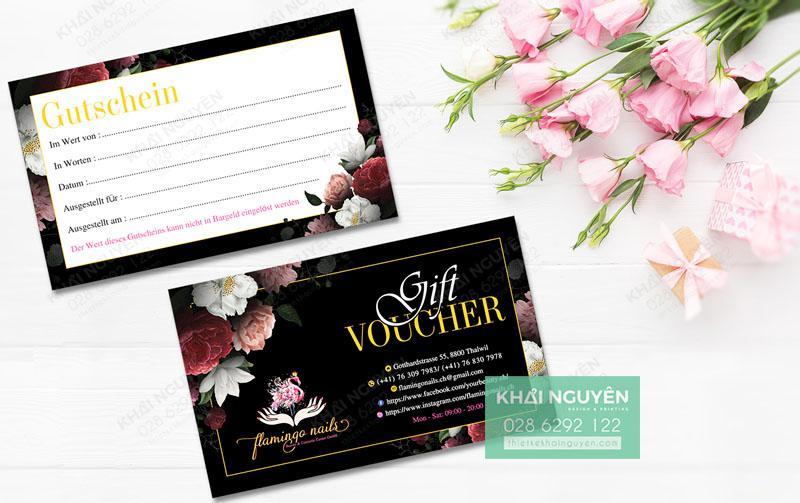 Thiết kế gift voucher Spa Nails