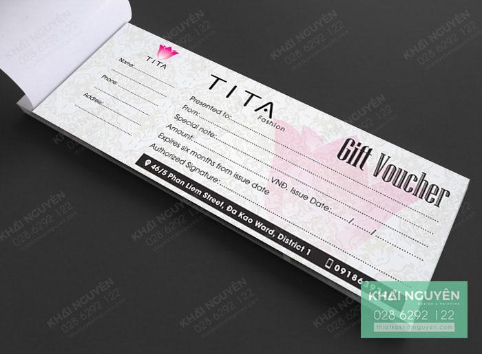 Gift voucher TiTa Fashion - voucher thời trang