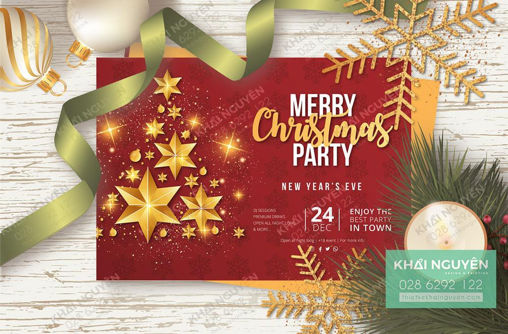 Invitation Party Merry Christmas 2020 - thiệp giáng sinh 2020