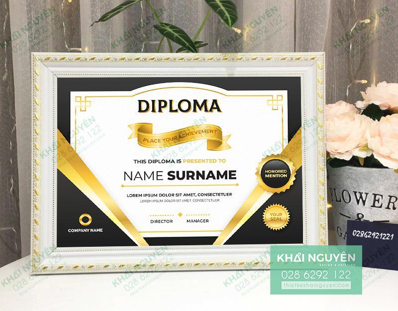 Mẫu bằng khen với thiết kế hiện đại - Diploma