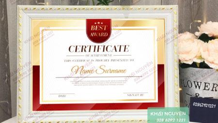 Mẫu bằng khen đẹp, giấy khen thưởng hot nhất năm 2019.