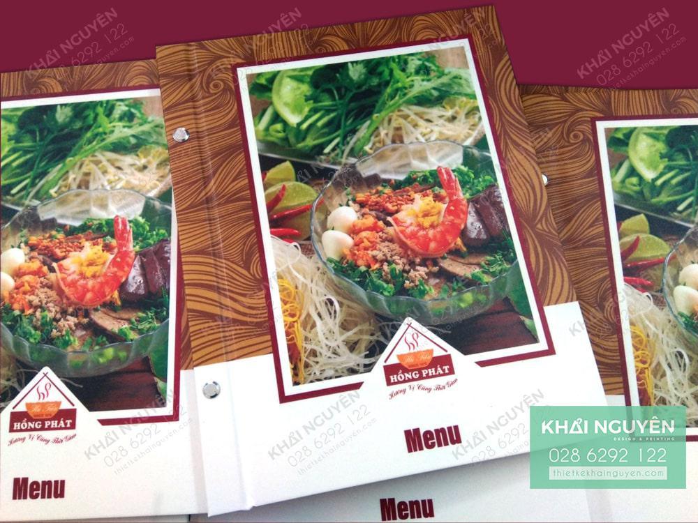 Cách in bìa menu HP - menu bìa bồi cứng