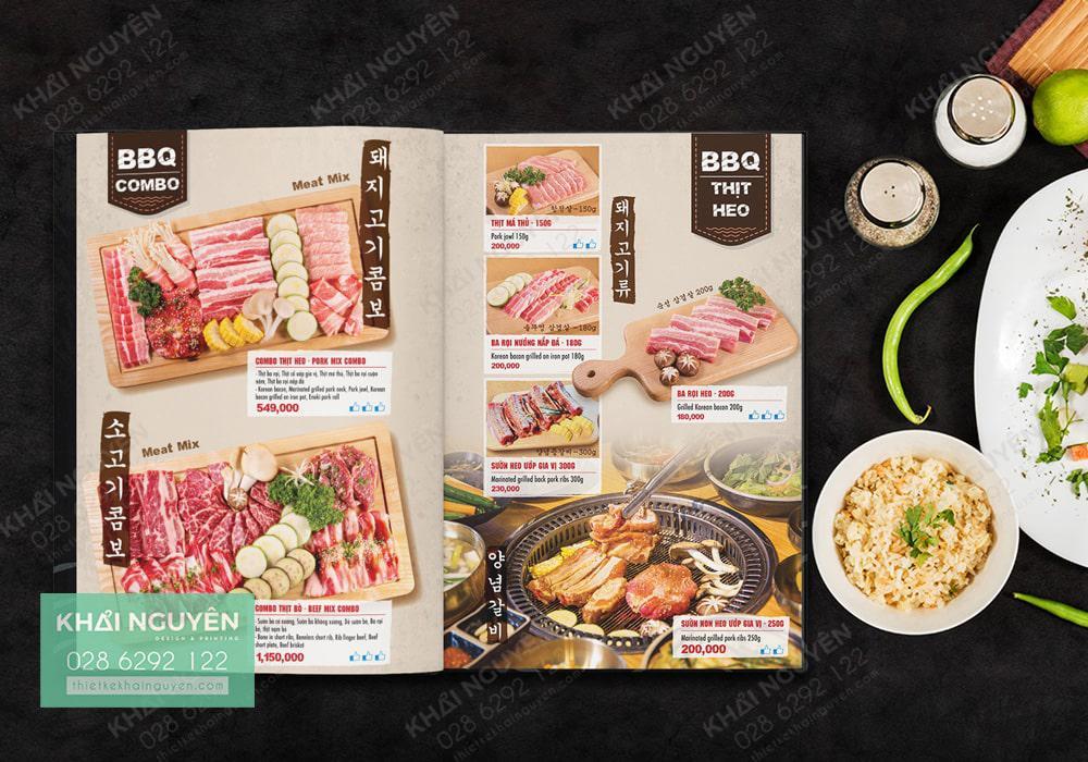 Menu nhà hàng Cctospice - Món nướng kiểu Hàn đặc sắc