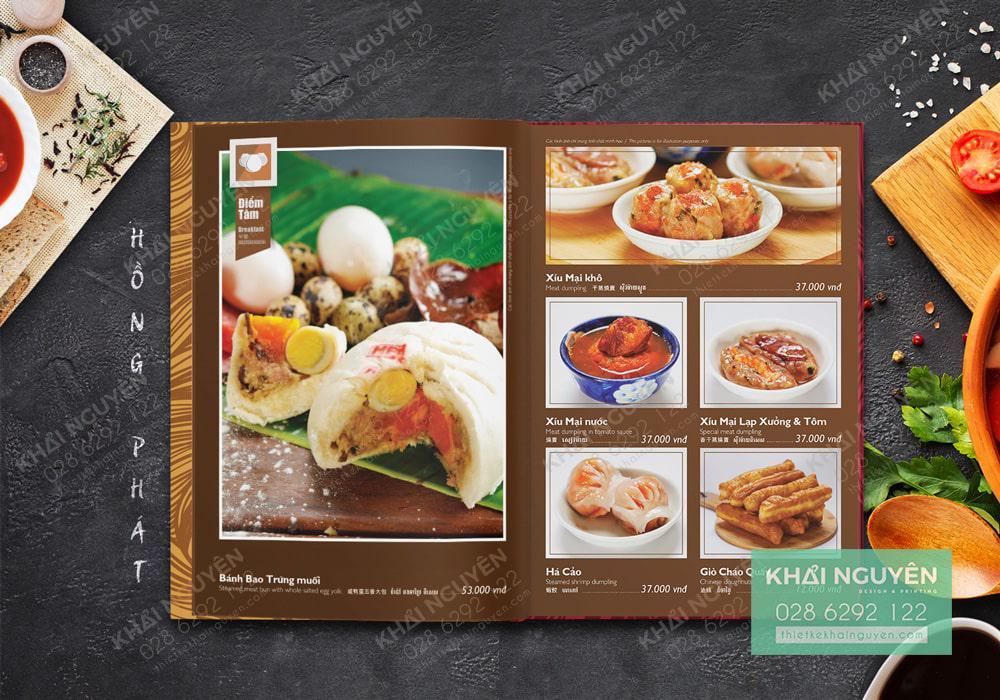 Những món ăn thân thuộc trong menu nhà hàng HP