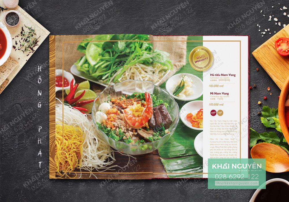Thiết kế menu thực đơn nhà hàng Hồng Phát