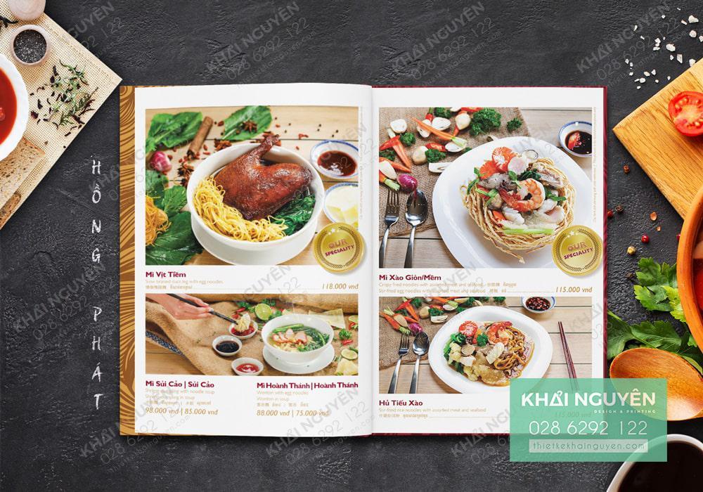 Menu nhà hàng Hồng Phát - Hình ảnh đẹp làm nên thành công