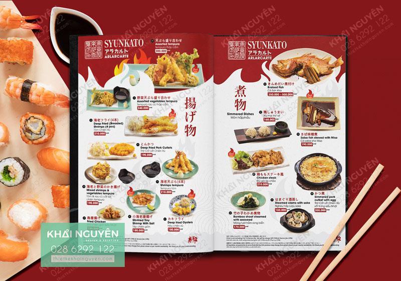 Arlarcarte Menu - Thực đơn nhà hàng Nhật Syunkato nổi tiếng