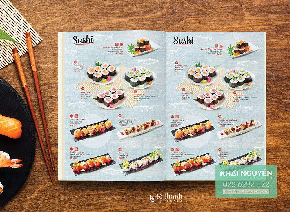 Phân Sushi trong menu Nhật Osaka được chú trọng đầu tư