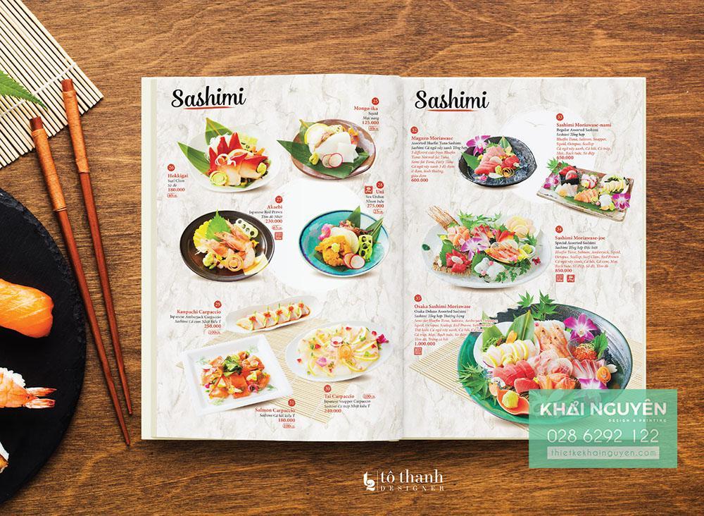 Hình ảnh trong menu Nhật luôn đẹp, thơm ngon và hấp dẫn