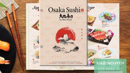 2 bộ thực đơn nhà hàng Nhật nổi tiếng với kiểu thiết kế lạ mắt.