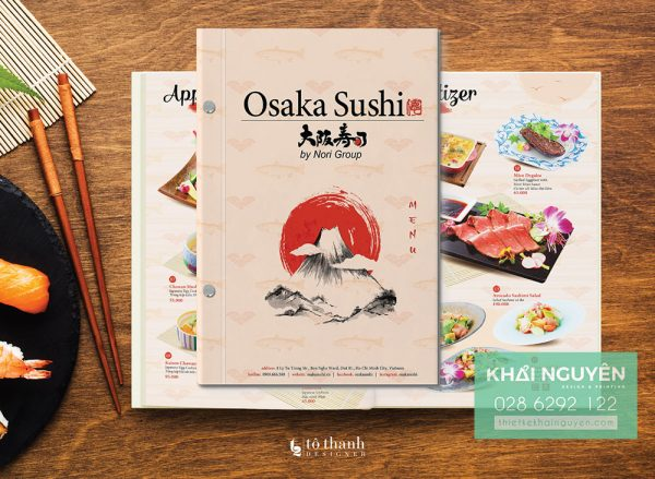 Nghệ thuật thiết kế menu nhà hàng Nhật