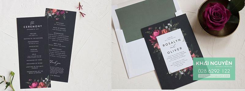 Thiệp cưới đẹp với ý tưởng thiết kế đặc sắc
