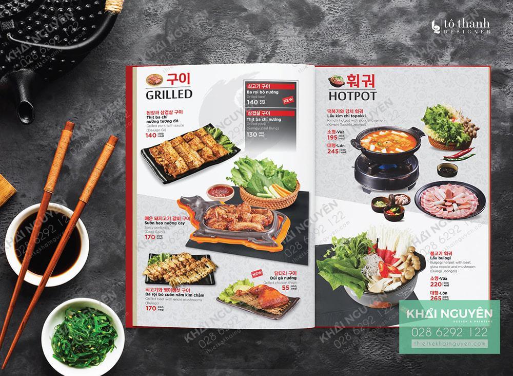 Thực đơn nhà hàng Hàn Quốc - Busan Korea - Griller & HotPot