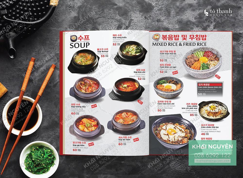 Menu mì cay Hàn Quốc thơm ngon tuyệt vời