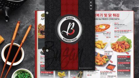 Thiết kế & In menu Hàn Quốc   chuẩn đẹp từ xứ sở Kim chi.