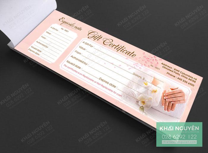 Thiết kế gift voucher đẹp cho tiệm Nails