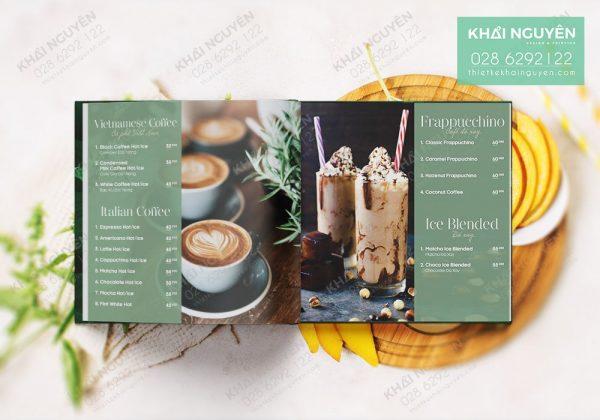 Thiết kế menu quán cafe đẹp