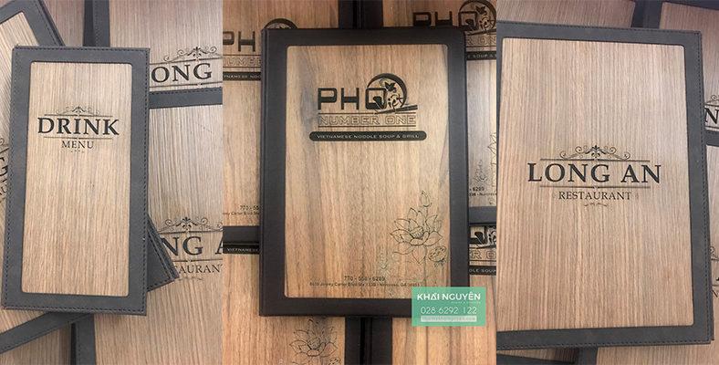 Menu bìa gỗ bọc da cao cấp cho nhà hàng cần thời gian gia công rất lâu