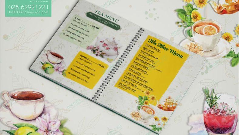 In menu nhựa mỏng bền đẹp cho menu cafe & trà