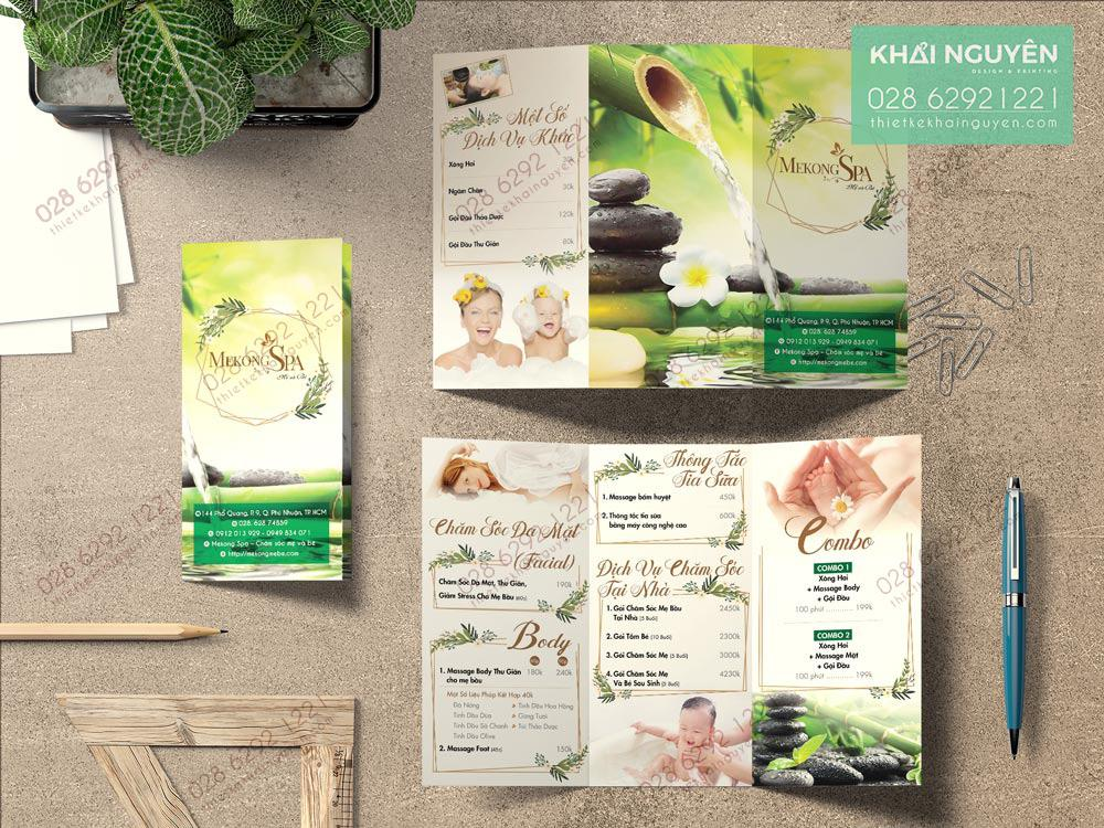 Spa brochure Design - Mẫu brochure Spa đẹp nhẹ nhàng