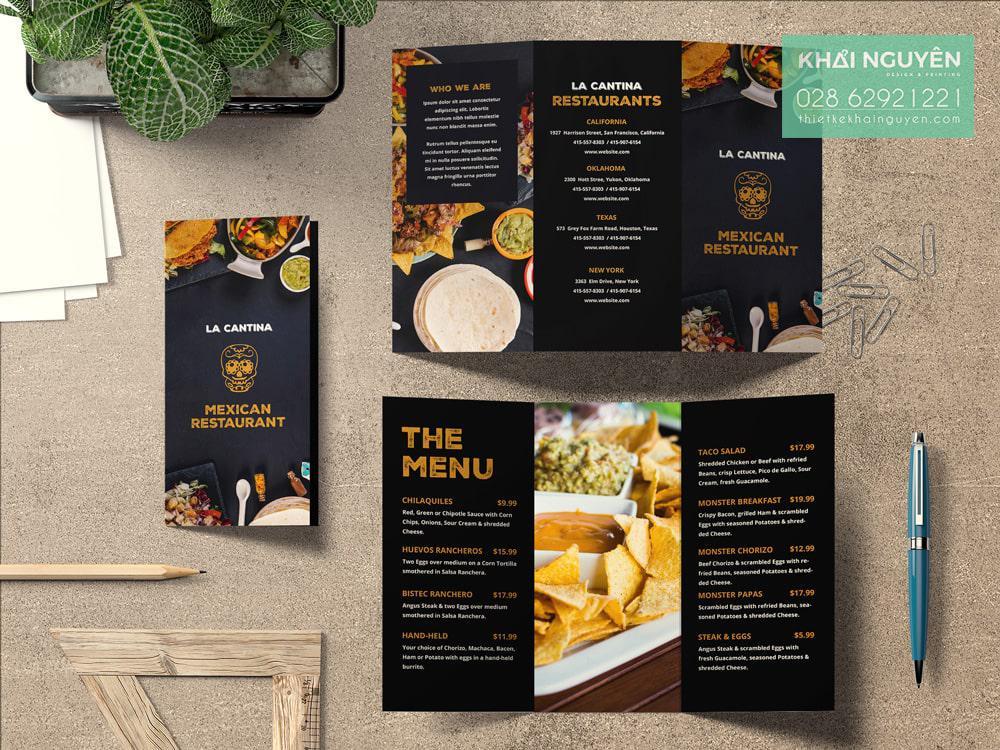 Menu brochure Mexican Restaurant