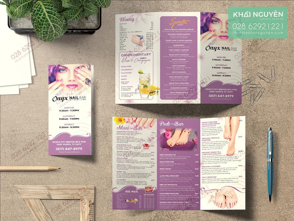 Brochure Nail Salon & Spa Design - Sắc tím ngập tràn