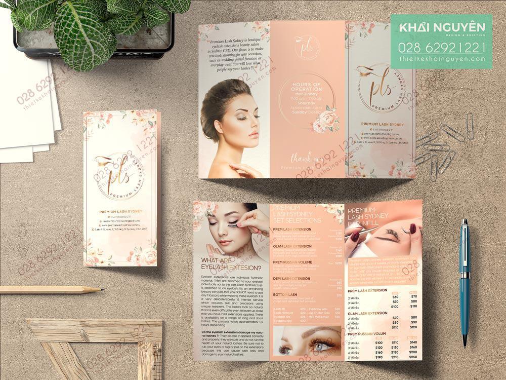 Mẫu thiết kế brochure cho Spa đầy khí chất