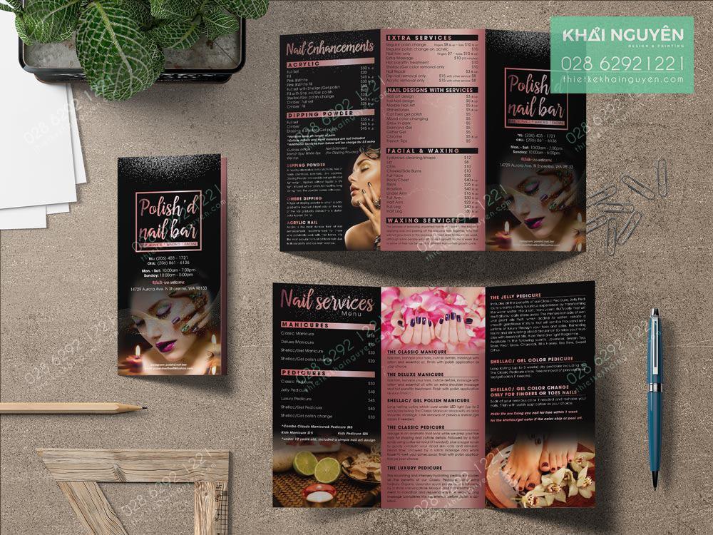 Đẹp lạnh lùng nhưng đầy khí chất với Brochure Polish Nail Bar