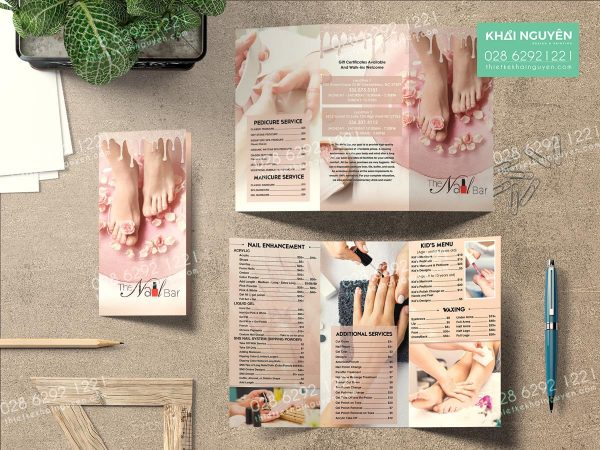 Brochure - Menu togo - Flyer The Nail Bar