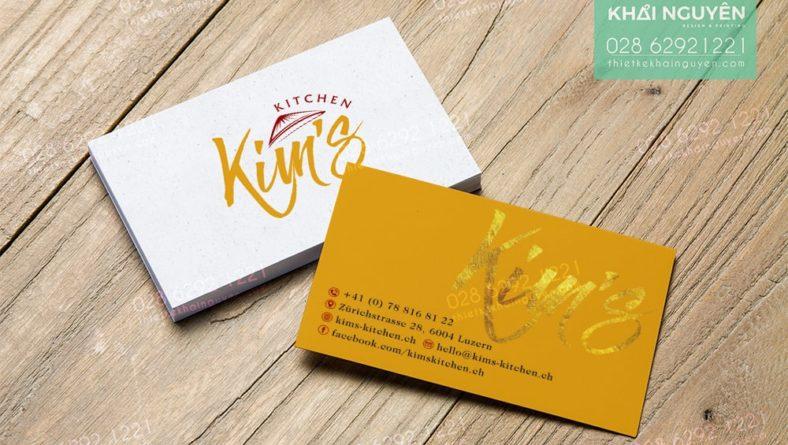 KING Kitchen - Mẫu cardvisit cho nhà hàng