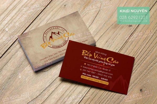 Làm card visit 30 phút tại hcm - in card hỏa tốc