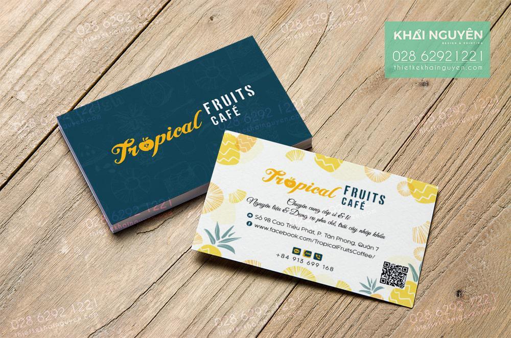 Topical Cafe name card Design
