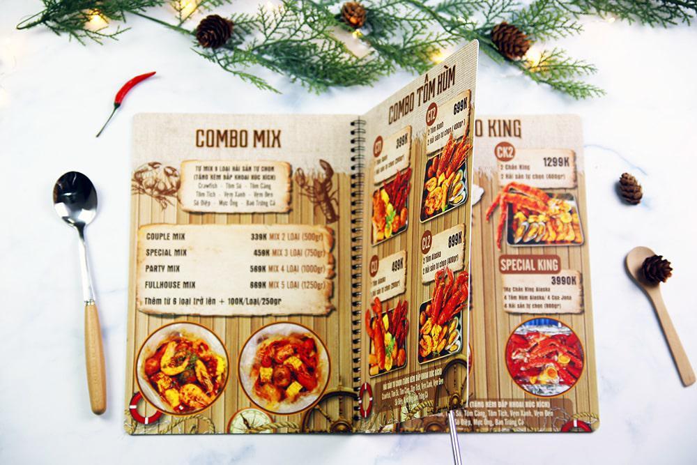 In menu nhựa PVC giá đắt nhưng chất lượng vô đối