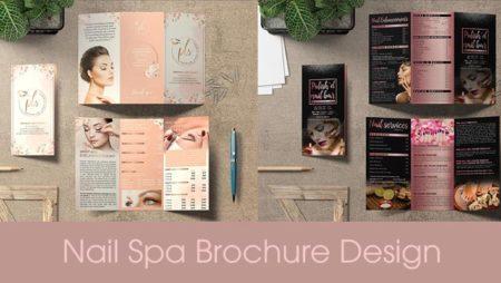 Nail & Spa Brochure Design – mẫu thiết kế brochure Nail Salon & Spa đẹp nhất.