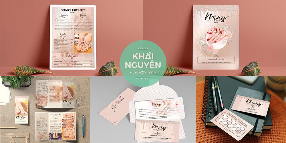 Thiết kế in ấn cho Nails Spa - May Nail