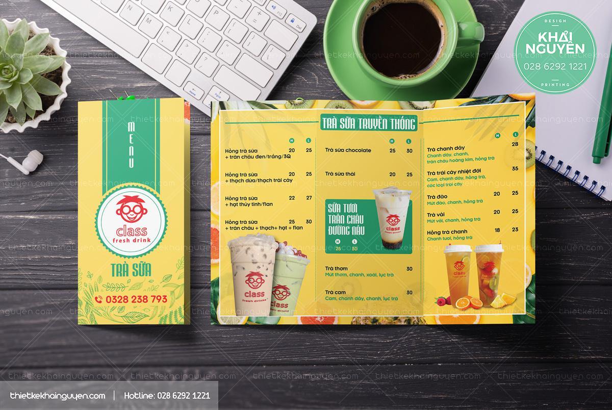 Togo menu - menu mang đi cho quán trà sữa
