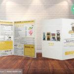 Sản phẩm từ quy trình thiết kế in ấn menu