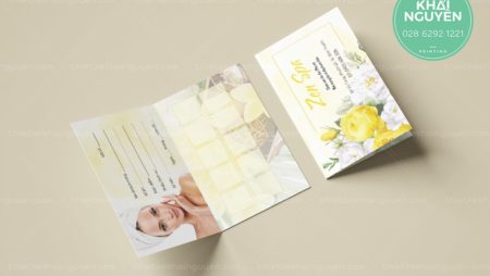 Spa & Nails Appointment card Template – phiếu hẹn Nails Spa