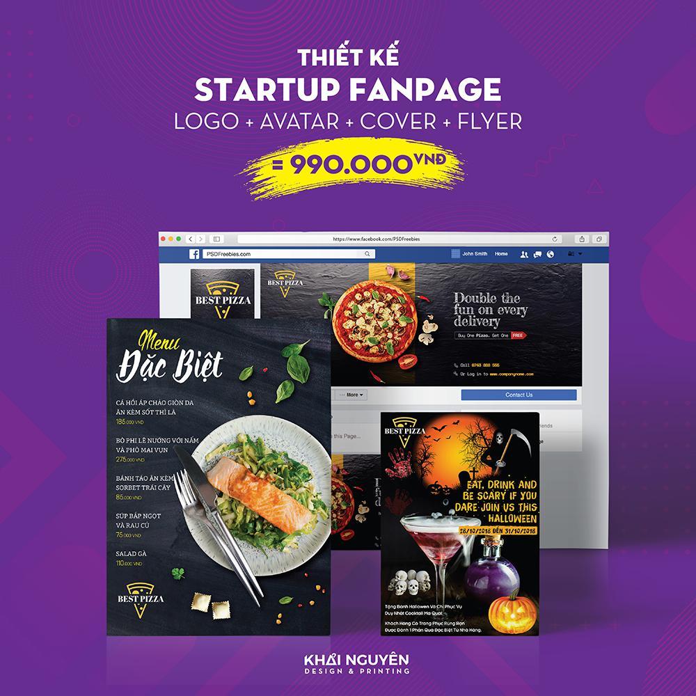 Gói thiết kế startup fanpage 1