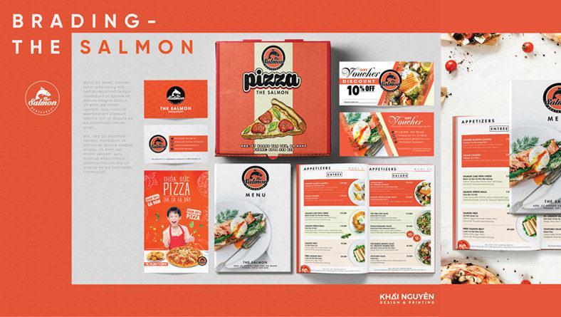 Bộ nhận diện thương hiệu cho nhà hàng The Salmon