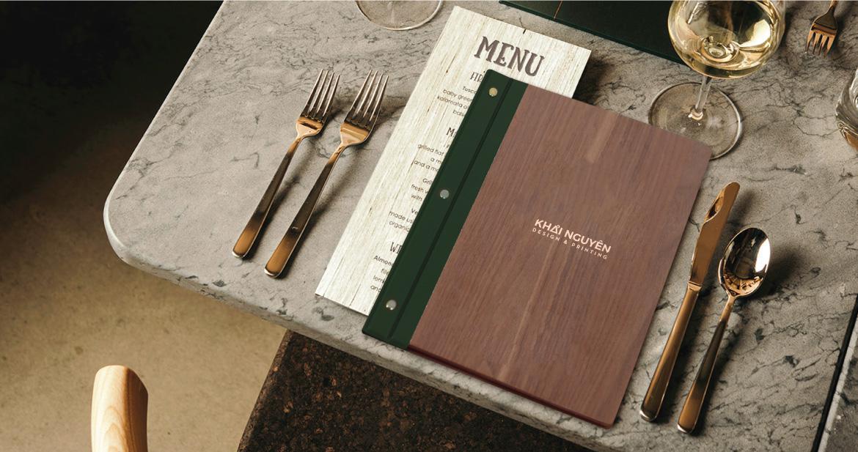 In menu gỗ tinh tế nét đẹp tự nhiên thuần túy