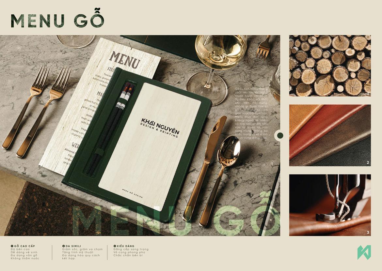 Kiểu menu gỗ cho nhà hàng cao cấp