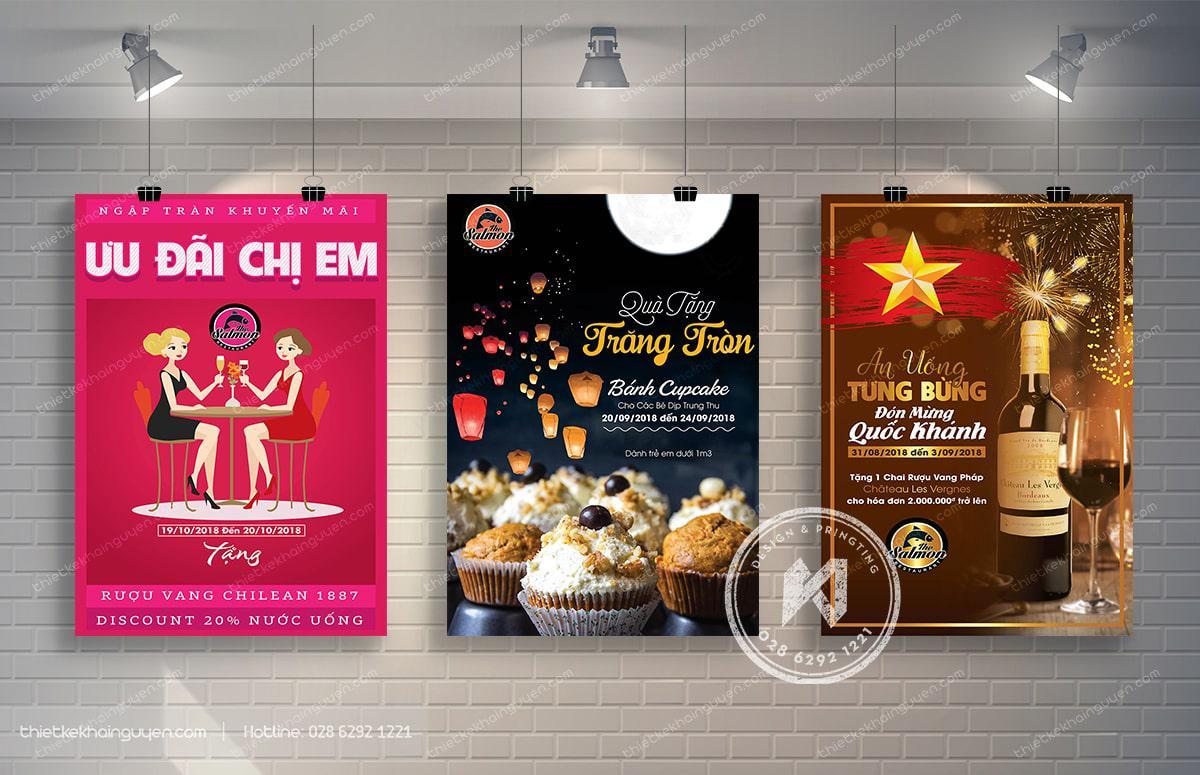 Thiết kế poster nhà hàng chuyên nghiệp