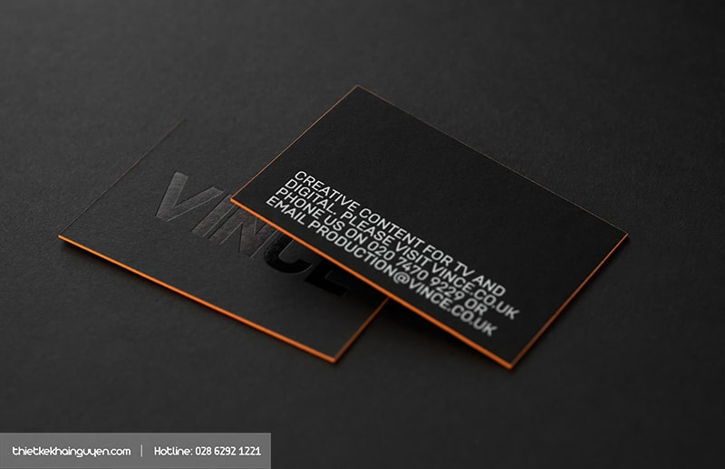 VINCE Black Business Card
