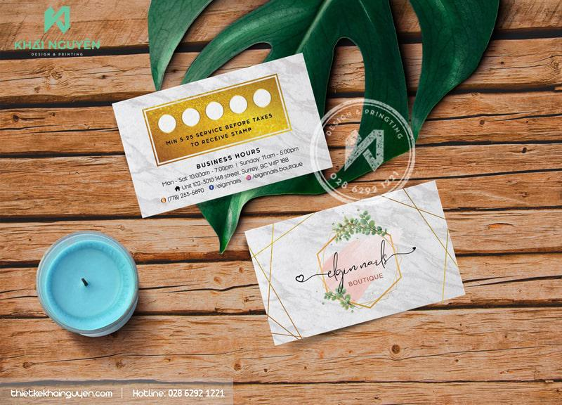 Businesscard Boutique Spa Design