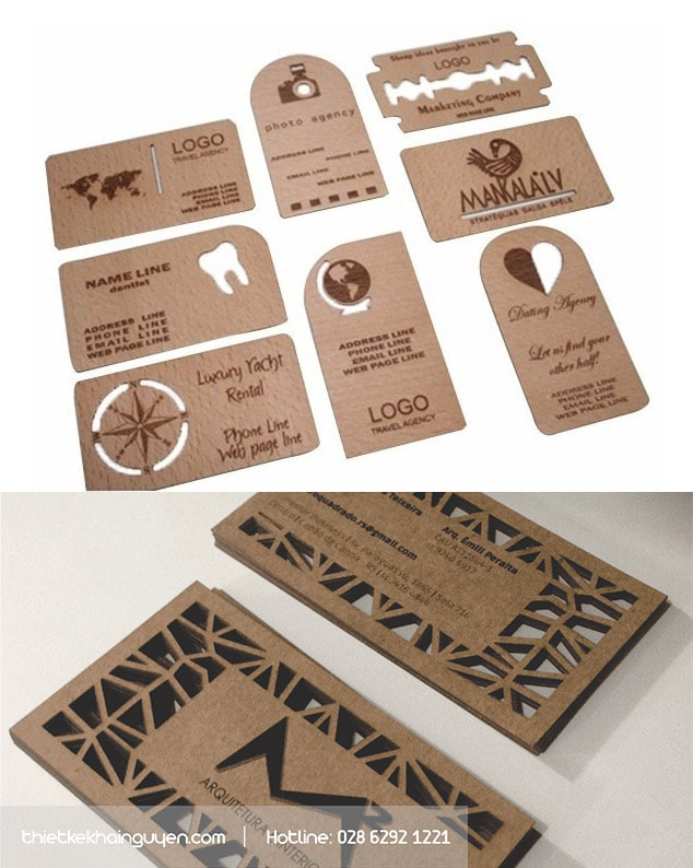 Kraft Name card Die cut
